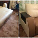 реставрация дивана из кожзама