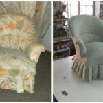 замена обивки кресла в Киеве
